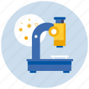 bacteria, chemistry, experiment, lab, laboratory, medicine, microscope, research, science, virus icon