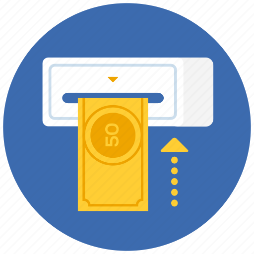 cash, currency, dollar, finance, financial, machine, money, payment icon