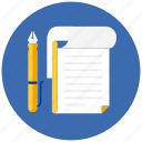 book, note, notebook, notes, pen, pencil, write icon