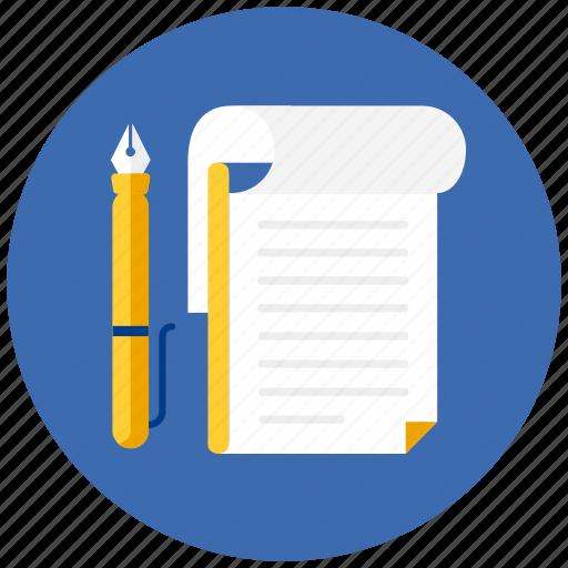 book, note, notebook, notes, pen, pencil, write icon