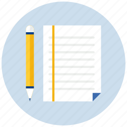 document, documents, page, paper, pencil, sheet, text icon