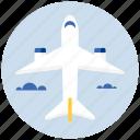 plane, airplane, flight, transport, transportation