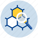 chemistry, experiment, explore, glass, lab, laboratory, magnify, magnifying, research, science, test, zoom icon