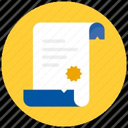 script, scrol, scroll icon