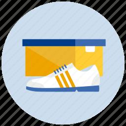 box, closed, shoe, sneaker, sport icon