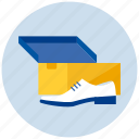 box, male, man, new, shoe icon