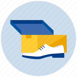 box, male, man, new, shoe icon