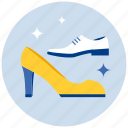 female, male, shoes icon