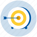 arrow, arrows, target icon