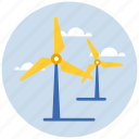 electricity, energy, green, power, weather, wind icon