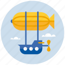 adventure, flying, transport, zeppelin icon