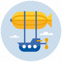 adventure, flying, transport, zeppelin icon