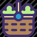 basket, buy, farm, gardening, shop, shopping, vegetable icon