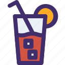 bottle, drink, glass, juice, search, spring icon