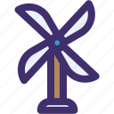 ecology, nature, spring, weather, wind, windmill icon