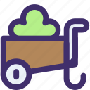 basket, cart, shopping, spring, store, trolley, vegetable icon