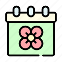calendar, schedule, spring icon
