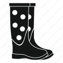 boot, clothing, dot, pair, rubber, shoe, waterproof icon