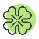 day, flower, leaf, patrick, saint, shamrock, spring icon