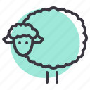 animal, easter, herd, lamb, livestock, sheep, spring icon