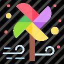 wind, colorful, fan, paper, toy