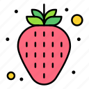strawberry, fruit, organic, vegetarian, red
