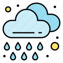 cloud, drop, rain, spring, weather
