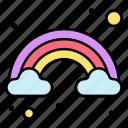 rainbow, sky, spring, weather, cloud