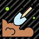 dig, garden, gardering, shovel, farming