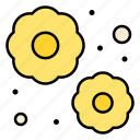 blossom, dust, flower, particles, garden