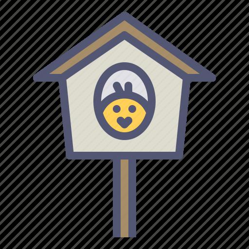bird, birdhouse, chicken, nest, sparrow, spring icon