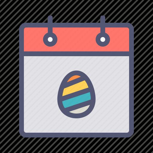 calendar, celebration, day, easter, egg, event, festival icon