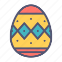 celebrate, decorated, decoration, easter, egg, paschal, spring icon