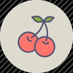 berries, berry, cherries, cherry, food, fruit, spring icon
