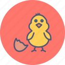 chicken, chickling, easter, egg, shell, spring icon