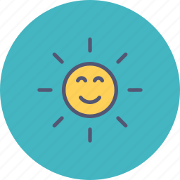forecast, spring, summer, sun, sunny, weather icon