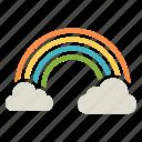cloud, colorful, rainbow, spring, sun, vibrant