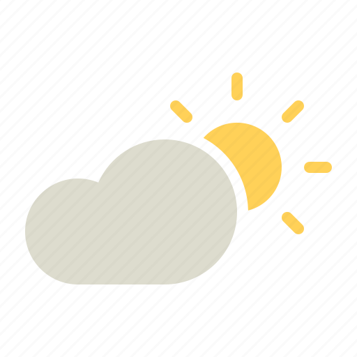 cloud, cloudy, day, forecast, sun, sunny, weather icon