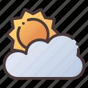 sun, sunny, cloud, weather, forecast