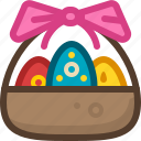 basket, easter, eggs, ribbon, spring, tradition, yumminky icon