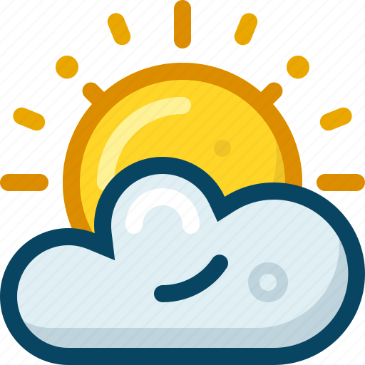 climate, cloudy, forecast, spring, sun, weather, yumminky icon