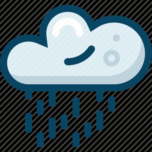 cloud, forecast, rain, shower, spring, weather, yumminky icon