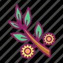 flower, leaf, spring, tree icon