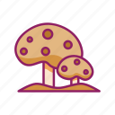 food, mushroom, spring, summer icon