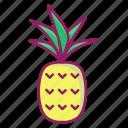 fresh, fruit, pineapple, spring