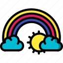 cloud, rainbow, sky, spring, weather icon