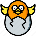 chick, easter, egg, spring icon