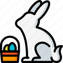 easter, egg, rabbit, spring icon