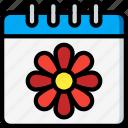 calendar, easter, spring icon