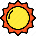 easter, spring, sun, weather icon